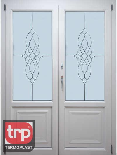 Termoplast Porta dupla com cristais e painel personalizado