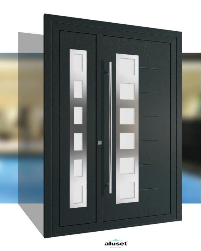 Catálogos de portas com painéis especiais